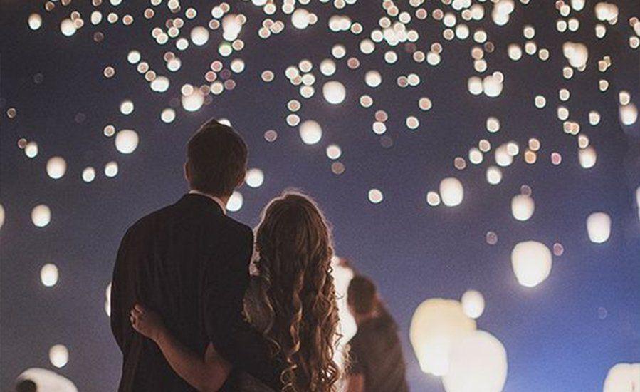 Wensballon voor Romantisch avond