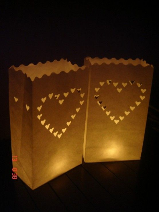Candlebags Hearts Hartjes 10st