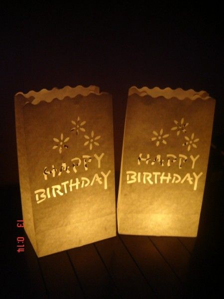 Candlebags Happy birthday cutout 10st