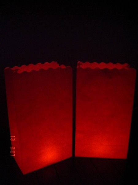 Candlebags Blanco wit/creme 10st