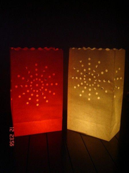 Candlebags ORANJE Fireworks 10st