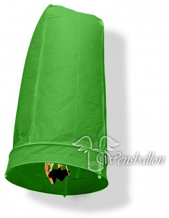 Wensballon geluksballon XL Groen (50x100cm)