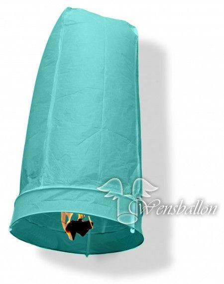 Wensballon geluksballon XL Hemelsblauw (50x100cm)