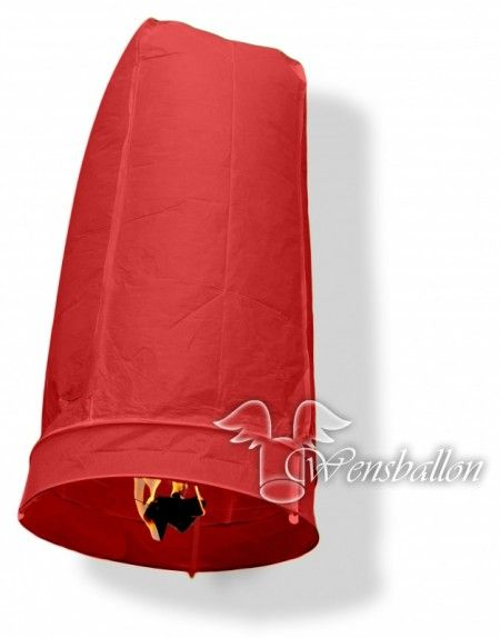 Wensballon geluksballon XL Rood (50x100cm)