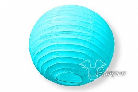 Lampion lichtblauw (20cm)