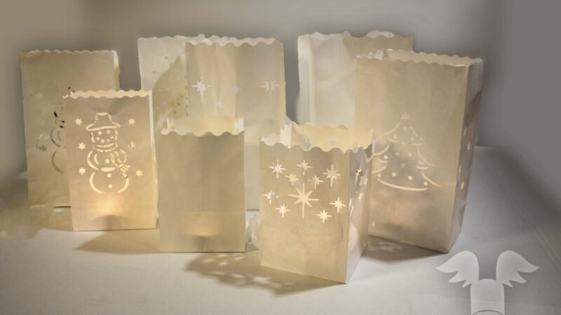 candle bag candlebags kerst